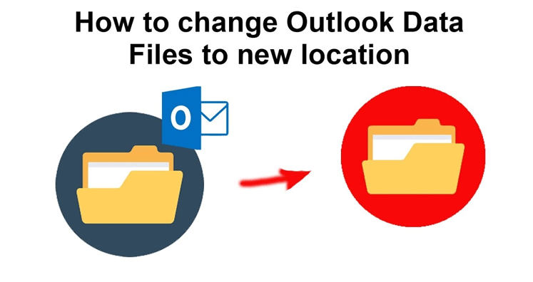 how to change outlook pst location