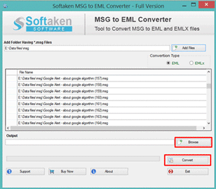Convert MSG to EML